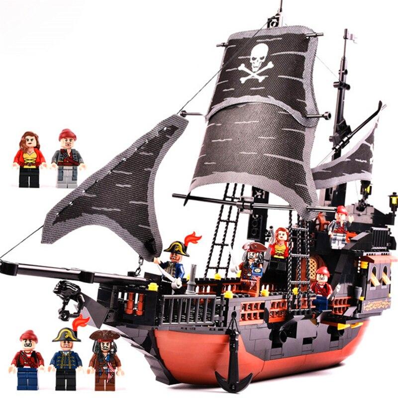 The Black Pearl Gudi 652Pcs Pirates Ship Of The Caribbean large Models Bricks Building Blocks Toys Gift Compatible Playmobil